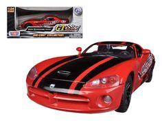 2003 Dodge Viper SRT-10 Red #8 GT Racing 1/24 Diecast Car Model by Motormax