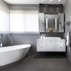 """Urban Apartment by Michal Schein #homeadore #interior #interiors #interiordesign #interiordesigns #bathroom #bathtub #residence #apartment #flat #studio…"""