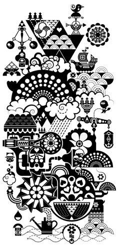Rain Maker - Matt Lyon, aka C86, a London-based graphic artist and illustrator.