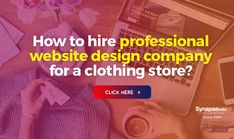 Create an appealing ECOMMERCE PLATFORM with professional WEBSITE DESIGN COMPANY SERVICE.   Get ready to increase product sales and enhance company's profit.   SynapseIndia offers highly innovative designing service at low-cost. Website Design Company, Professional Website, Ecommerce Platforms, Mobile Application, Innovation, Create, Web Design Company