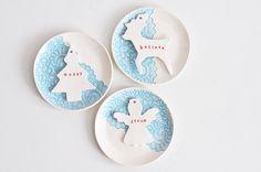 blue lace saucer - christmas decor - christmas angel - porcelain decor