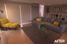Brother and Sister, Ben and LIbby's lounge on The Block NZ TV Show. Clear winner and clearly has some style! The Block Nz, Grey Lounge, Entry Hall, Home Living Room, Game Room, Sweet Home, New Homes, House Design, Lounge Ideas