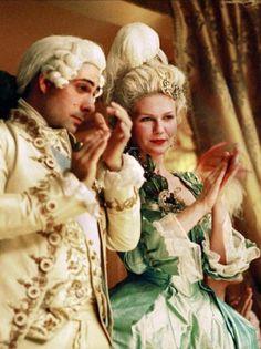 Jason Schwartzman as Louis XVI and Kirsten Dunst as Marie Antoinette in Marie Antoinette (2006).