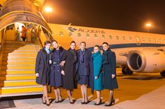 Six vintage uniforms together for one day #airdolomiti25 Photo by Aleksandr Dal Cero