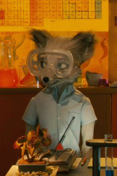 Cousin Kristofferson in the science lab. One of my all-time favorite movies. Wes Anderson Style, Wes Anderson Movies, Fox Character, Character Design, Zootopia, Mr Fox, Film Inspiration, Fox Art, Film Aesthetic