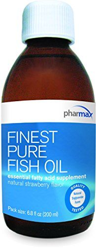 Pharmax - Finest Pure Fish Oil - Essential Fatty Acids to Support Cardiovascular Health* - Natural Strawberry Flavor - 6.8 fl oz (200 ml) >>> Check out the image by visiting the link.