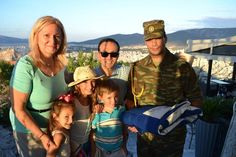CHRISTINE M. - UNITED STATES ΕΚΠΡΟΣΩΠΟΣ ΤΗΣ ΕΛΛΑΔΑΣ I4th General Greek American grandchildren pictured with Soldier holding Greek Flag at Lycavettus Mt. in August, 2014. Memorable.