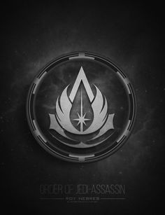 The progeny of the Assassin's Creed franchise and the Star Wars franchise Assassins Creed Logo, Assassin Logo, Star Wars Jedi, Star Wars Art, Jedi Symbol, Star Wars Drawings, Jedi Sith, Star Wars Tattoo, Fan Art