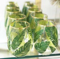 Palm Stemless Wine Glass - emilymccarthy.com