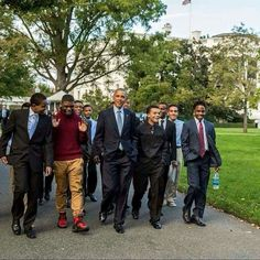 The President with future leaders.