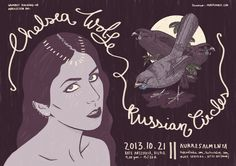 Russian circles & Chelsea Wolfe poster by Marta Ennes