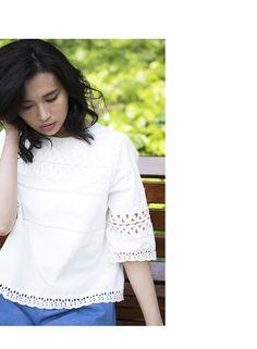 【Lace blouse】レディース レース ブラウス