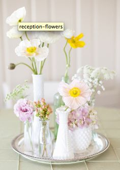 cluster of vases. LOVE.