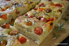 summer tomato focaccia. Make it with fresh herbs and farmer's market tomatoes before they're gone. We couldn't stop eating it!