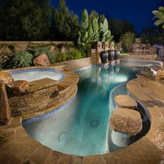 contemporary pool by Alderete Pools Inc