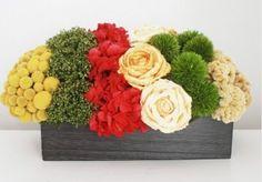 gorgeous dried flower arrangement