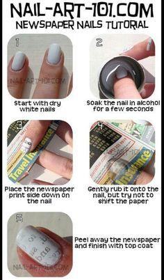 nail polish, newspaper nails diy, comic, alcohol, nail arts, nail tutorials, music sheets, newspap nail, print