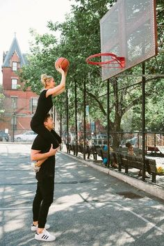 cute love couple play basketball - love images