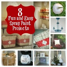 Create these fun and easy projects using spray paint.  thistlewoodfarms.com