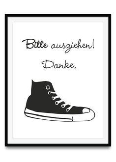 Bitte Schuhe ausziehen 29,7 x 42 cm | Ulrike Wathling