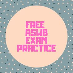 The best way to prepare for to pass the ASWB exam is practice, practice, practice. Here, from SWTP (with permission), are three free soci. Social Work License, Medical Social Work, Social Work Exam, Social Work Practice, School Social Work, Practice Exam, Stages Of Psychosocial Development, Conduct Disorder, Mental Health Therapy