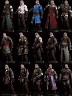 Witcher 3 - Assorted Garb. From this gameplay trailer: https://www.youtube.com/watch?v=nYwe_WHARdc