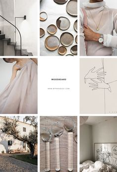 Design trends moodboard, inspiration moodboard curated by Eleni Psyllaki Graphisches Design, Design Elements, Design Trends, Graphic Design, Feed Vsco, Mood Board Interior, Feeds Instagram, Material Board, Mood And Tone