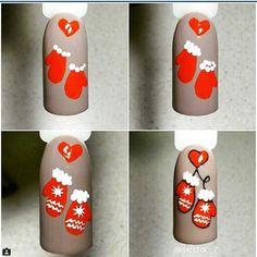 Маникюр. Дизайн ногтей. Art Simple Nail новый год,