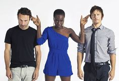 The fabulous trio; Rick Grimes, Michonee, and Daryl Dixon