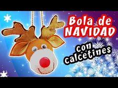 BOLA DE NAVIDAD CON CALCETINES - IDEA FÁCIL PARA NAVIDAD | Manualidades aPasos - YouTube