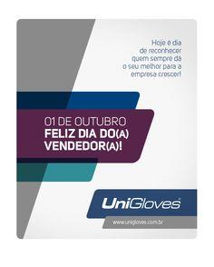 Dia do Vendedor. #Unigloves #Redatorcriativo Redatora Patricia Schmidt - Commcepta Brand Design
