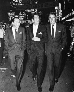 Frank Sinatra, Dean Martin, and Peter Lawford.
