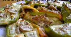 Πιπεριές γεμιστές στο φούρνο με μανιτάρια και τυρί φέτα Ένα αρκετά νόστιμο ορεκτικό για τη μπύρα ή το κρασάκι μας, για όσους λατρεύο...