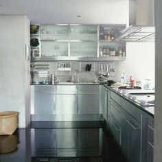 Do you want stainless steel cabinets for your home? Turn to Steel Kitchen. We can provide beautiful and stunning stainless steel kitchen cabinets. Small Kitchen Cabinets, Diy Cabinets, Diy Kitchen, Kitchen Interior, Kitchen Decor, Kitchen Ideas, Kitchen Small, Kitchen Modern, Stainless Steel Kitchen Design