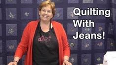 Missouri Star Quilt Company denim quilt tutorial - YouTube - I have a huge jeans stash. I love the way she teaches you how to cut them up to get the most useable fabric.