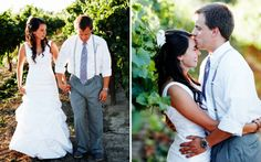 A walk and kiss in the vines