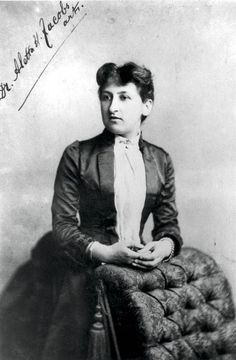 Aletta Jacobs 1854-1929 First Dutch woman to go to medical school. Opened clinic to teach poor people about contraception using the pessarium. Became ardent suffragette.