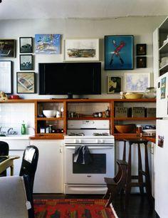 kitchen: interesting shelves