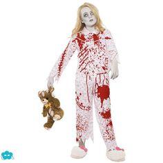 Disfraz de zombie en pijama para adolescente