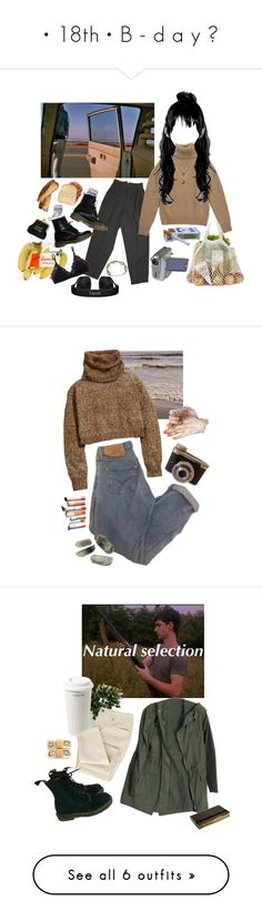 """""""• 18th • B - d a y ♥"""" by savlinem on Polyvore featuring Mode, Talula, 1937, Dr. Martens, Charlotte Russe, Beats by Dr. Dre, H&M, Mr. Coffee, Moleskine und Nearly Natural"""