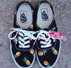 Vans #black#pineapples