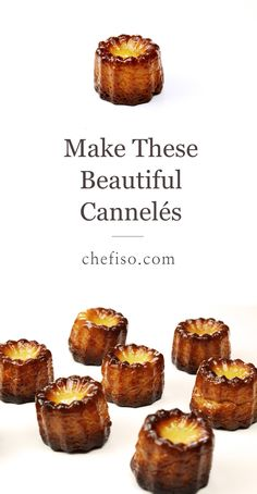 How to make Cannelés de Bordeaux (Canelés recipe and technique) — Chef Iso Gourmet Desserts, Sweet Desserts, Gourmet Recipes, Sweet Recipes, Baking Recipes, Delicious Desserts, Dessert Recipes, Yummy Food, Baking Ideas