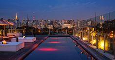Não é preciso ir tão longe para aproveitar as coberturas badaladas com vistas noturnas de tirar o fôlego. Aqui em São Paulo temos algumas opções de bares instalados no topo de hotéis também. É o caso do Skye (www.hotelunique.com.br/skyerest_pt.html), que fica no último andar do Hotel Unique, cujo prédio localizado no bairro Jardins foi projetado pelo arquiteto Ruy Othake. Com DJ's a partir das 21h, o bar ganha vida à noite. Destaque para a piscina, eleita já uma das 15 mais bonitas do mundo…