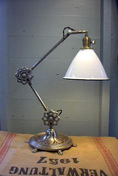 Steampunk Articulated Desk Lamp Machine Age Light | eBay