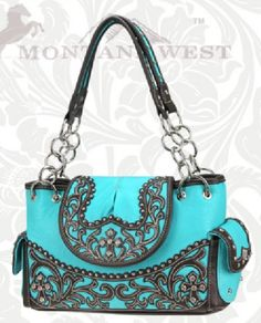 Turquoise Tooled Western Purse