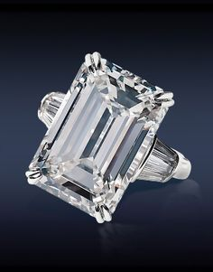 Most beautiful diamond I think I've ever seen. Jacob & Co. HRD Certified Ct, H Internally Flawless Emerald Cut Diamond Flanked by Ct Tapered Baguette Cut Diamonds Stones), Mounted in Platinum and White Gold. The Bling Ring, Bling Bling, Emerald Cut Diamonds, Diamond Cuts, Rare Diamonds, Jewelry Gifts, Fine Jewelry, Jewelry Making, Women's Accessories