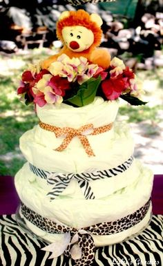 Safari Baby Shower- Diaper Cake
