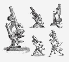 MICROSCOPES FREE VINTAGE VECTOR PRINTABLE | http://www.freevintagevectors.com/2015/07/microscopes.html
