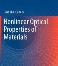 Nonlinear Optical Properties Of Materials PDF