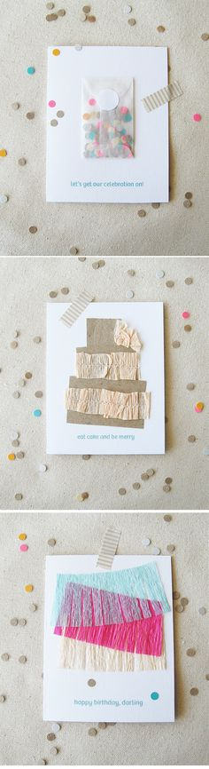 Love the idea of this confetti filled envelope attached to a wedding program
